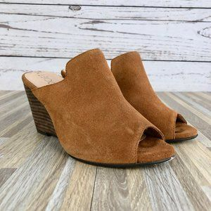 SOLE SOCIETY Drew Open-Toe Wedge Mule Size 6